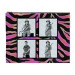 Psychadelic Zebra Cosmetic Case - Cosmetic Bag (XL)