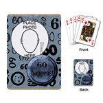 60th Birthday Playing Cards - Playing Cards Single Design (Rectangle)
