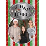 Bah humbug Christmas Card - Greeting Card 5  x 7