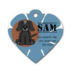 Dog Tag Sample - Dog Tag Heart (Two Sides)