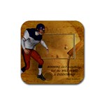 Football Coaster8 - Rubber Square Coaster (4 pack)