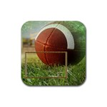 Football Coaster9 - Rubber Square Coaster (4 pack)