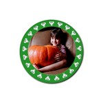 Halloween green - Rubber square coaster - Rubber Coaster (Round)