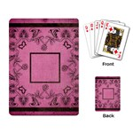 art nouveau pink playing cards - Playing Cards Single Design (Rectangle)