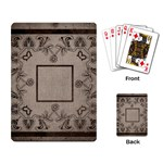 art nouveau mocha playing cards - Playing Cards Single Design