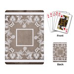 art nouveau mocha lace playing cards - Playing Cards Single Design