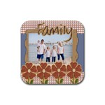 family coaster template - Rubber Coaster (Square)