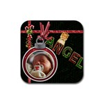 Angel  Christmas Coaster - Rubber Coaster (Square)