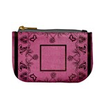art nouveau pink mini coin purse