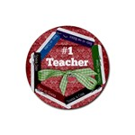 Round coaster- #1 Teacher - Rubber Coaster (Round)