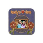 daddy s girls coaster template - Rubber Square Coaster (4 pack)