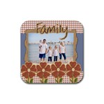 family coaster 4 pack template - Rubber Square Coaster (4 pack)