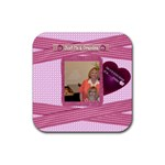 my greatest blessings call me grandma coaster - Rubber Square Coaster (4 pack)