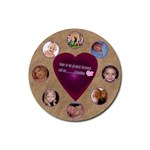 my greatest blessings call me grandma template2 - Rubber Round Coaster (4 pack)