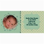 Baby Boy Stars Birth Announcement - 4  x 8  Photo Cards