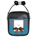 Blue and brown - BAG - Girls Sling Bag
