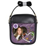 Pretty Purple Girls Sling Bag