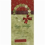 4x8 Verticle-Happy Holidays Wreath card - 4  x 8  Photo Cards