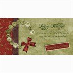 4x8 horizontal Holiday Wreath card - 4  x 8  Photo Cards