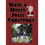 Holly Jolly Christmas Card - Greeting Card 5  x 7