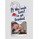 Grandma Christmas Card - Greeting Card 5  x 7