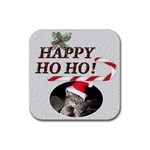 Happy Ho Ho Christmas Coaster - Rubber Coaster (Square)