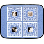 Blue BabyLove Lace mini fleece - Fleece Blanket (Mini)