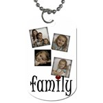 4 photo Family tag - Dog Tag (One Side)