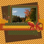 Autumn Frolic - ScrapBook Page 8  x 8