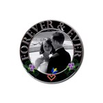 Forever & Ever Coaster - Rubber Coaster (Round)