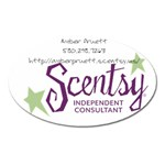 scentsy magnet - Magnet (Oval)