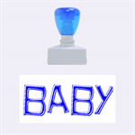 baby blue rubber stamp - Rubber Stamp (Medium)