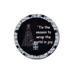 Magical Christmas Joy Poem Round Coaster - Rubber Round Coaster (4 pack)