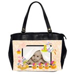 peach melba blankie baby oversized diaper bag - Oversize Office Handbag (2 Sides)