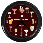 Happy Hour Wall Clock - Wall Clock (Black)