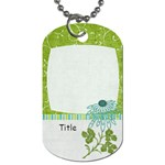 Summer Breeze Flower Dog Tag - Dog Tag (One Side)