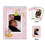 Special Delivery Baby Cards Girl - Playing Cards Single Design