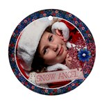 Snow Angel ornament - Round Ornament (Two Sides)