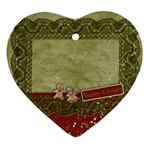 Merry ornament- First Christmas - Heart Ornament (Two Sides)