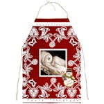 Christmas Lights Crimson  Full Print Apron