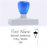 lamp post stamp - Rubber Address Stamp (XL)