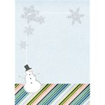 Snowman Holiday Card - Greeting Card 5  x 7