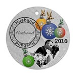 Husband Christmas Ornament - Round Ornament (Two Sides)