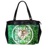 Lacy Heart deep green oversized office bag - Oversize Office Handbag (2 Sides)