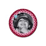 cute photo coaster - Rubber Round Coaster (4 pack)