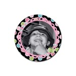 cute photo coaster 2 - Rubber Round Coaster (4 pack)