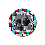 cute photo coaster 4 - Rubber Round Coaster (4 pack)