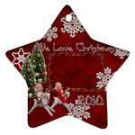 angels on reindeer 2010 ornament 53 - Ornament (Star)