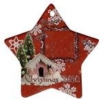 snow village peace love joy 2010 ornament 65 - Ornament (Star)