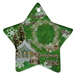 village peace love joy 2010 ornament 69 - Ornament (Star)